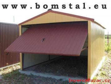 Plechové garáže- v ceně doprava a montáž