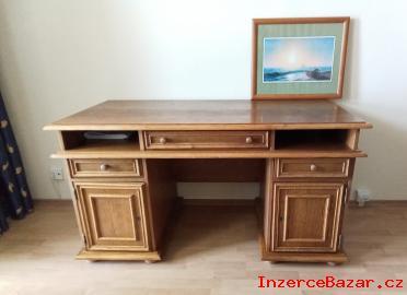 Rustikální psací stůl 70x142cm