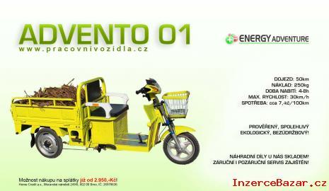Nákladní elektro pracovní tříkolka Adven