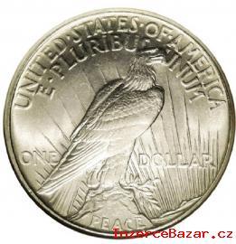 Stříbrný US 1 dolar