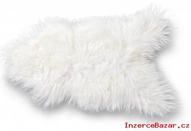 Bílá pravá kožešina z ovce