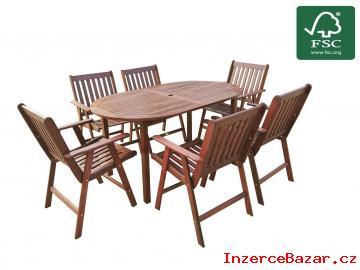 Zahradní dřevěný nábytek 6+1