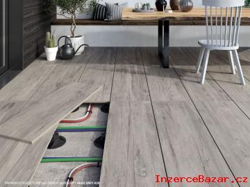 Dlažba na terče šedé dřevo