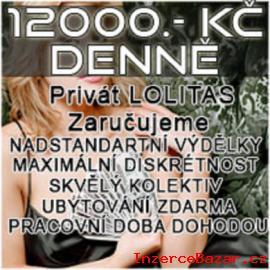 8000Kč-12000Kč DENNĚ,MAX. DISKR. ,FÉR. JEDN