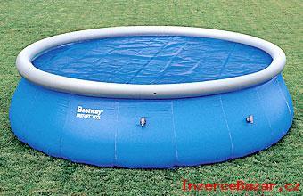 Solární plachta na bazén o průměru 3m