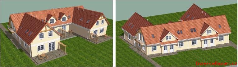 Pozemek u Prahy na 2 rodinné domy za 240