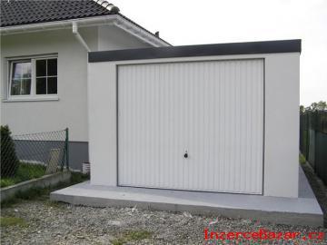 Montovaná garáž + omítka
