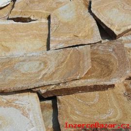 Přírodní kámen rula s fosilní kresbou