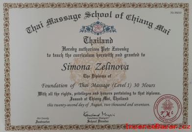 Certifikovaný kurz  Thai Yoga