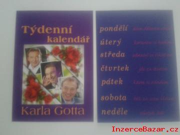 Týdenní kalendář Karla Gotta