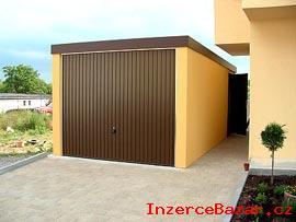 Nová garáž zděného vzhledu