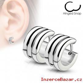 Kruhové ocelové náušnice