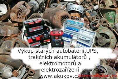 výkup starých akumulátorů,elektromotorů
