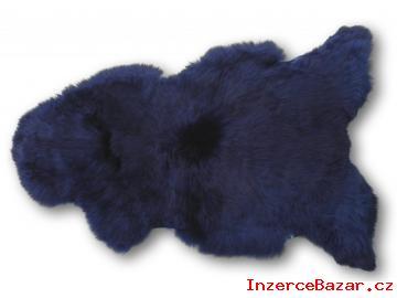 Pravá ovčí kůže tmavě modrá