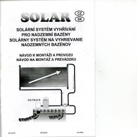 solární systém vyhřívání pro bazény