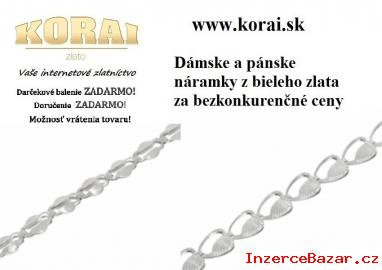 Náramky z bieleho zlata KORAI