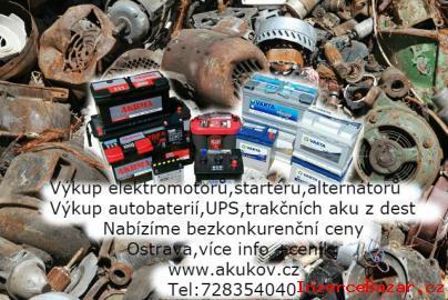 Výkup trakčních akumulátorů,elektromotor